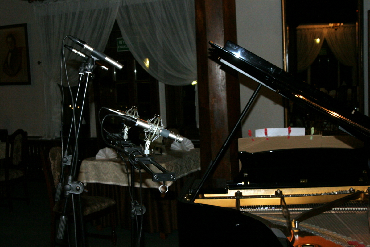 The recording of Alfons Szczerbinski compositions in Antonin, January 2012.